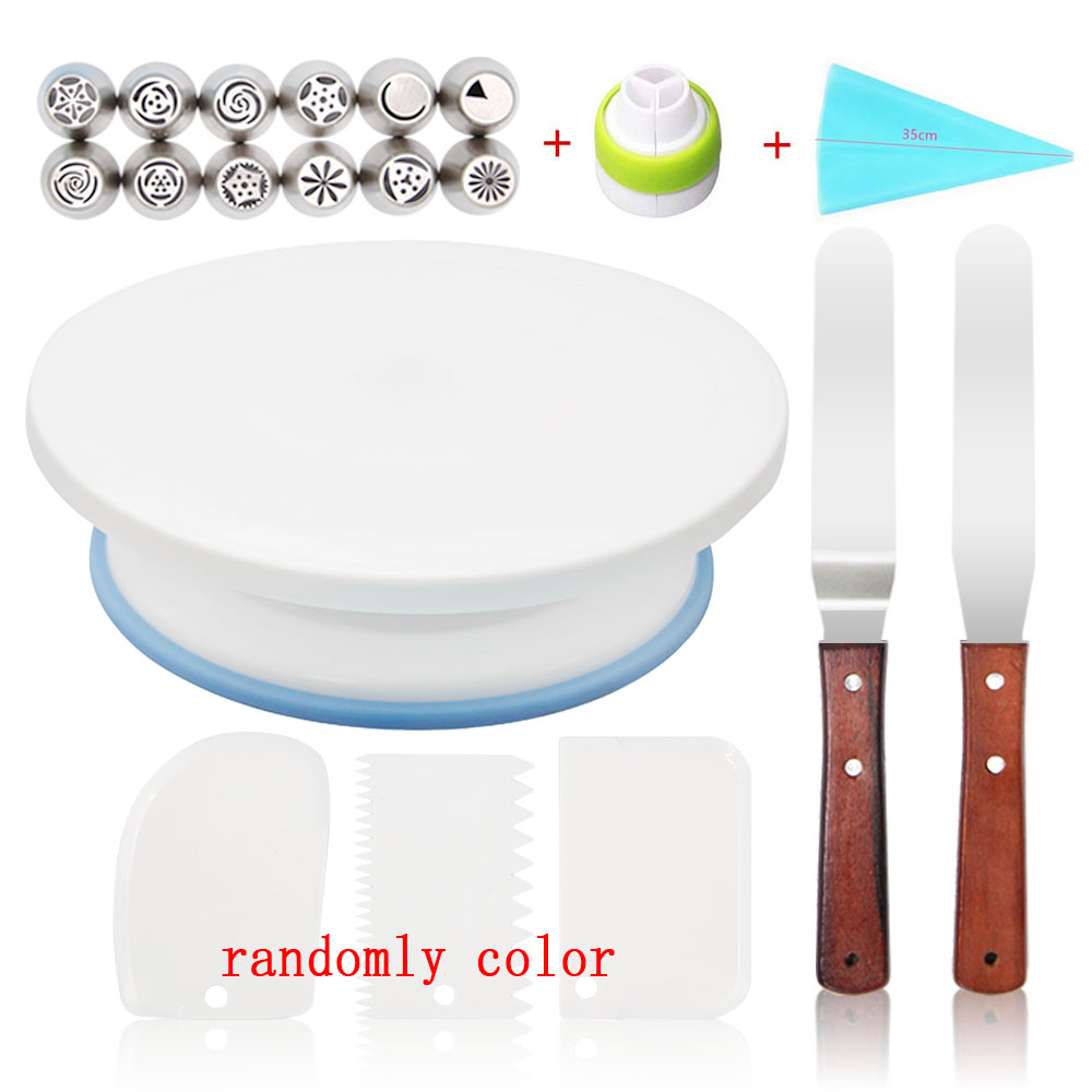 Cake Stand Turntable Rotating Base for Cake Plastic Dough Knife Decorating 10 Inch Cream Cakes Stand Cake Rotary Turntable Cake