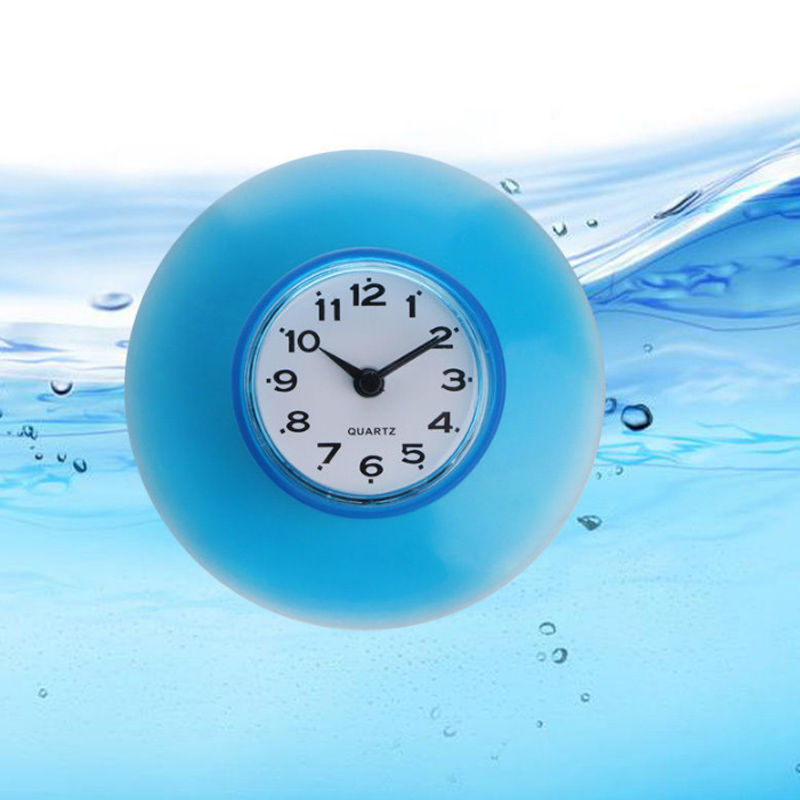 Waterproof Sucker Clock Shower Booth Powerful Adhered Fashion Home Sucker Digital Clock New Style Bathroom Kitchen