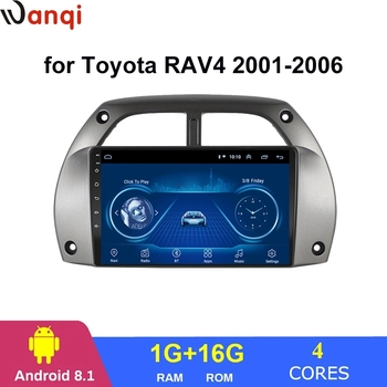Wanqi 9 inch android 8.1 car radio audio cd dvd multimedia player video Stereo gps navigation screen for Toyota RAV4 2001-2006 image
