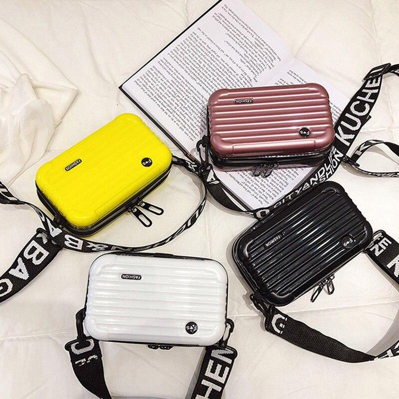 NEW Carry-On Suitcase Women Suitcase Box Shape Crossbody Shoulder Bag Mini Square Bag