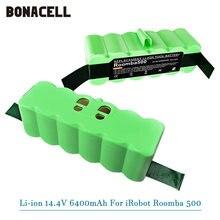 14.4V Li-ion Battery com Células Marca 6.4Ah para iRobot Roomba Série 500 600 700 800 510 530 550 560 650 770 780 790 870 880 R3