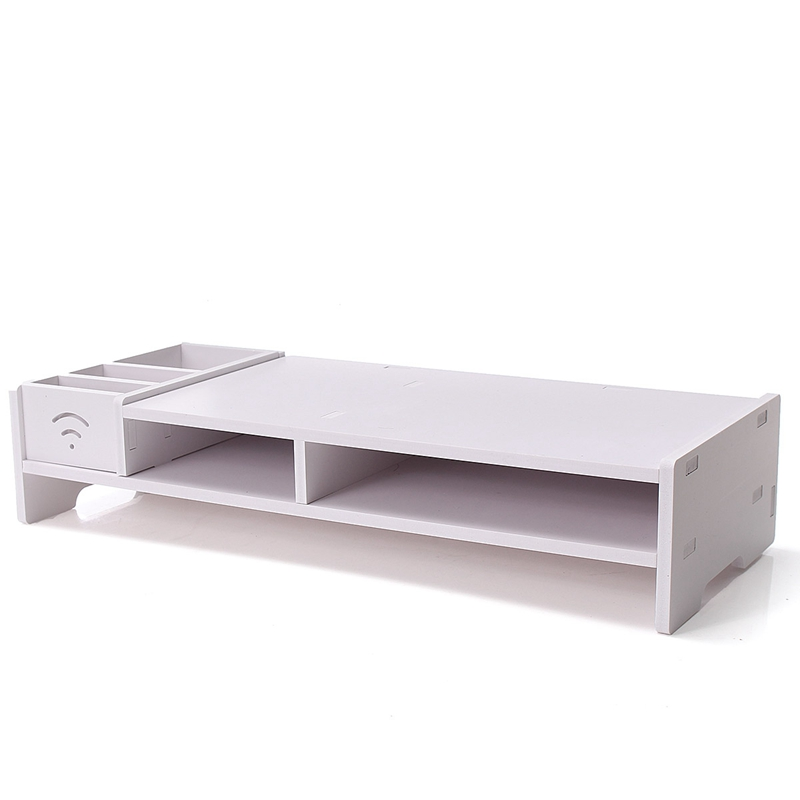 Multi-function Desktop Monitor Stand Laptop Strong Laptop Stand Holder Computer Screen Riser Wood Shelf Plinth For Notebook TV