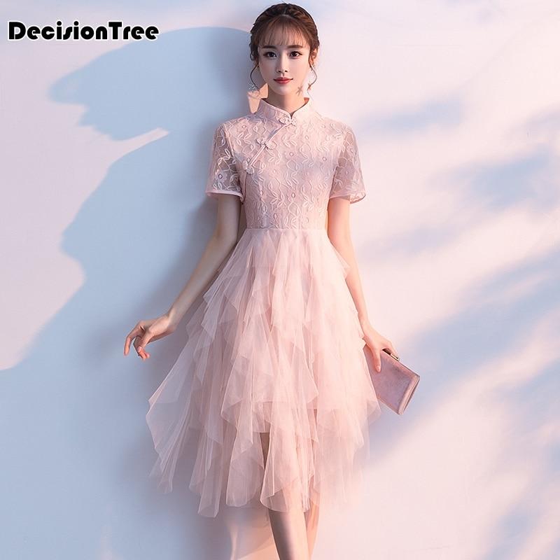 2020 bodycon dress pink short sleeve women sexy qipao short dresses hollow mesh goth dress