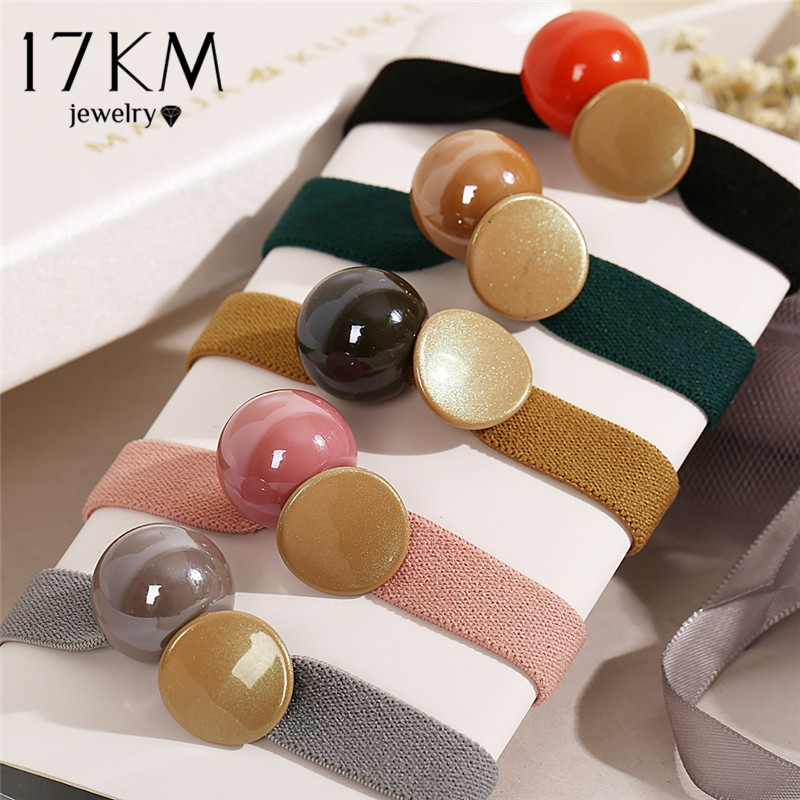 Women Beads Wide Elastic Hair Bands Scrunchie Tie Gum Rope Sweet Rubber Bands Fashion Hair Ropes Ponytai Holder Hair Accessories