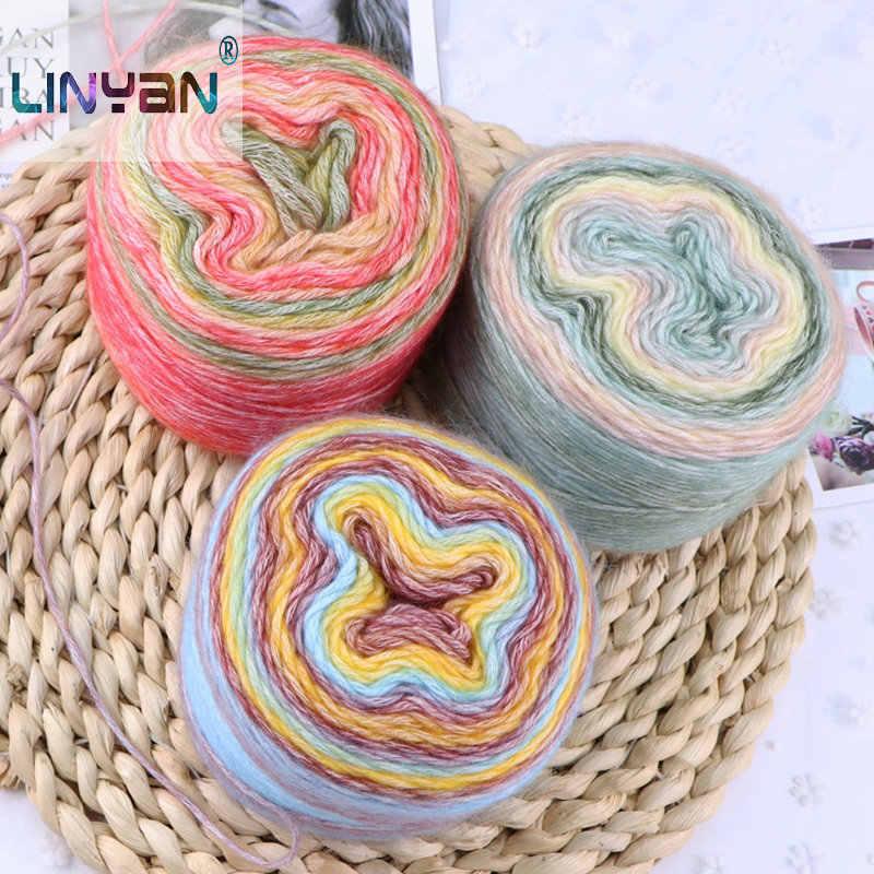 1 bolas * 100g pastel de lana hecho a mano regalo de punto novio novia propio tejido de hilo para bufanda 3mm hilo grueso amante t49