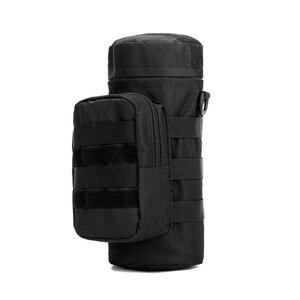 Image 2 - Açık spor taktik su şişe çantaları askeri dayanıklı yürüyüş su şişesi çantası naylon kamp tırmanma su isıtıcısı çanta