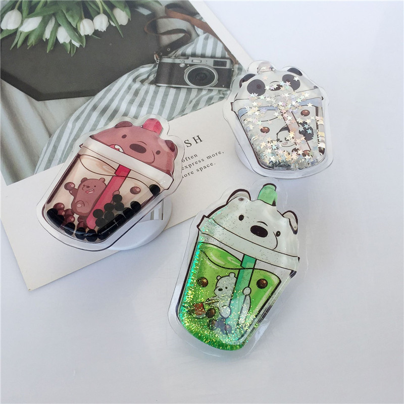 Milk Tea Cartoon New Mobile Phone Holder For IPhone X 8 7 6 Plus 5S Smartphone IPAD MP3 Car Holder For Samsung