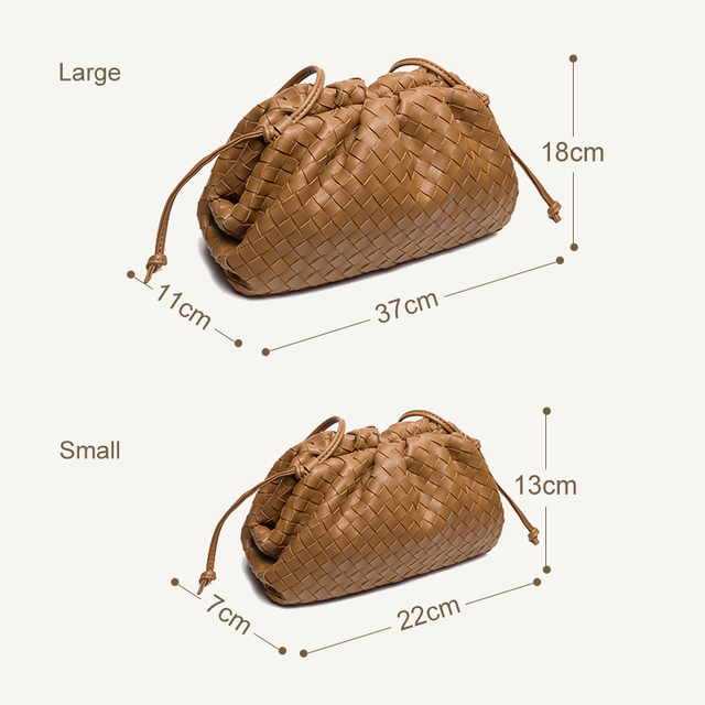 SNV Woven Leather Clouds Bag