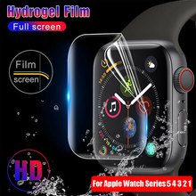 Гидрогелевая Защитная пленка для Apple Watch 5, 4, 3, 2, 1, Смарт-часы с полным покрытием, Защитная пленка для Iwatch 40 мм, 44 мм, 38 мм, 42 м