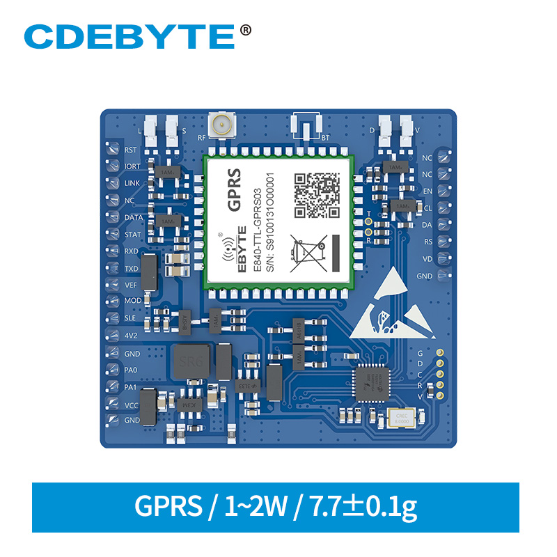 GPRS Wireless Transceiver IPEX Quad Band E840-TTL-GPRS03 TCP UDP Protocal AT Command RF Module