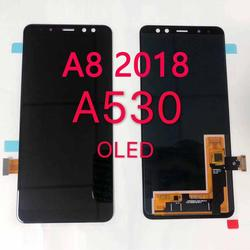 Super AMOLED A530 LCD do Samsung A8 2018 LCD A530F wyświetlacz LCD ekran dotykowy wymiana Digitizer A8 2018 ekran LCD