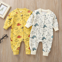 Newborn Cartoon Romper Baby Girls Boys Jumpsuit Toddler Rompers Baby Boy Clothes 2020 Baby One-Piece Suit Long Sleeve newborn boys girls rompers toddler turn down collar long sleeve casual romper baby cotton white pink clothes baby onesie 6 24m