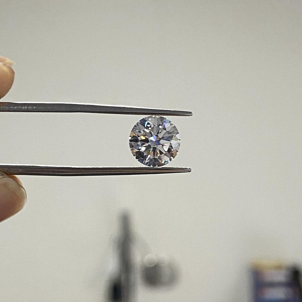 Pierre gemme en vrac synthétique cultivée en laboratoire très bonne qualité excellente coupe 6.5mm D VS 1 Carat CVD HPHT diamant pour bague