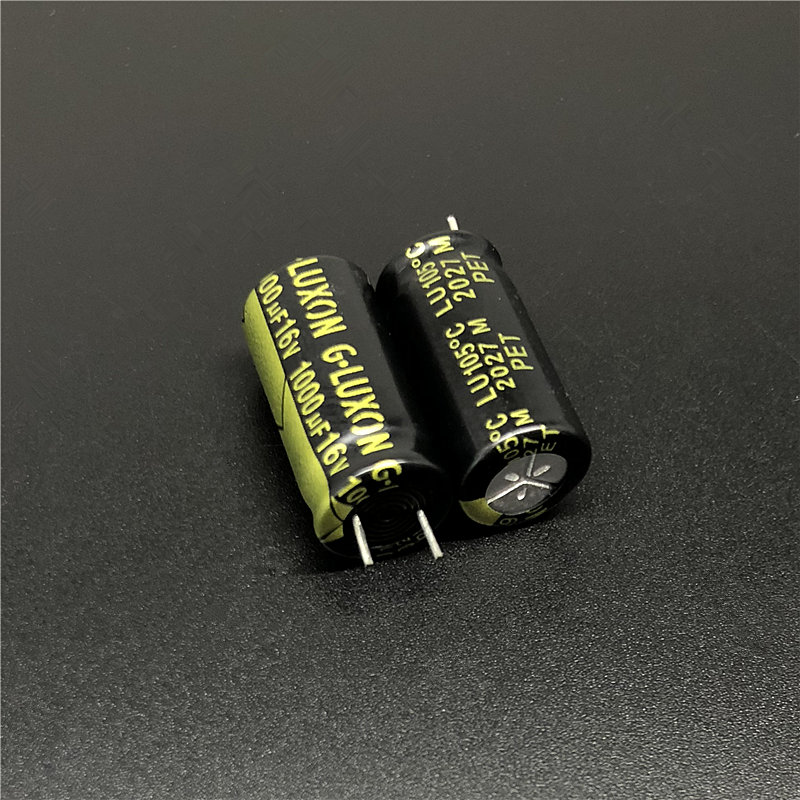 10pcs 1000uF 16V G-LUXON LU Series 10x20mm Low Impedance High Ripple 16V1000uF Aluminum Electrolytic Capacitor