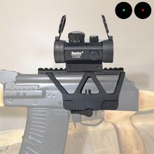 Tactical Hunting Holographic 1 x 40mm Airsoft Red Green Dot Sight Rifle Scope with Mount Side Rail for AK-47 AK-74