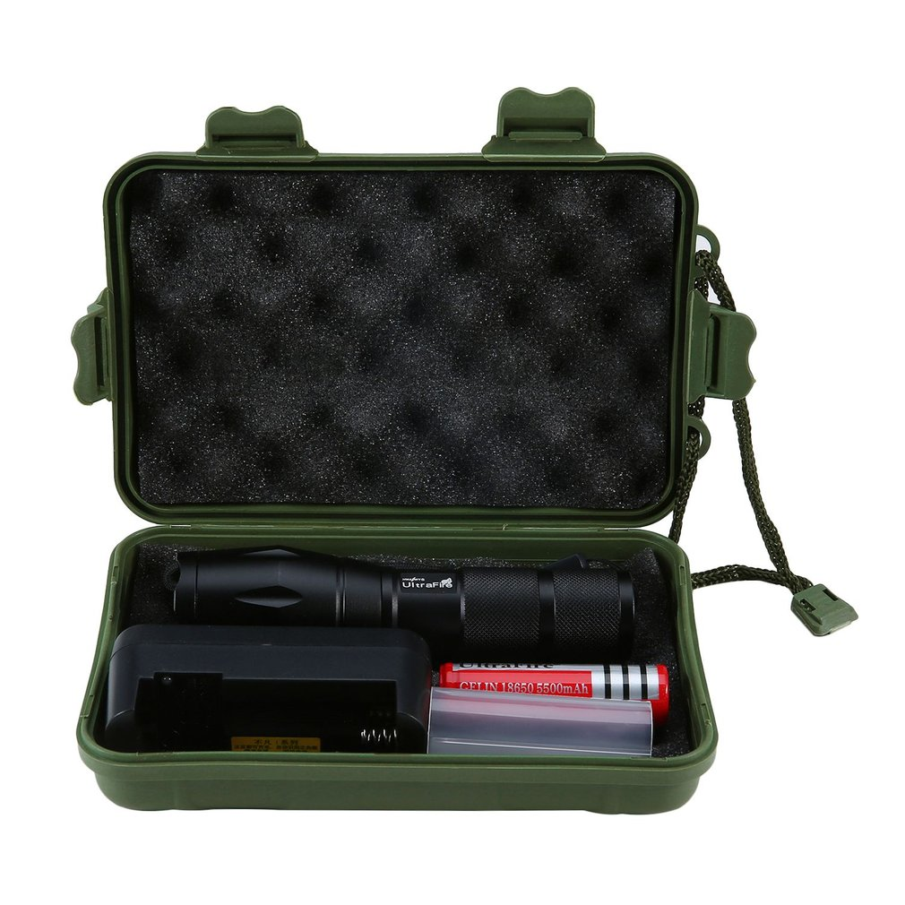 Portable Telescopic Zoomable Flashlight Rechargeable Torch Aluminum Alloy Electric Torch XM-L2 Tactical Flashlight