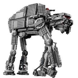 Compatível com o plano da estrela no modelo no robô o primeiro pedido pesado assalto walker guerras brinquedos bloco de construção tijolo presente