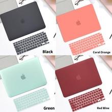 Матовый мягкий чехол для ноутбука из ПВХ для MacBook Air M1 13 2020 A2179 A2337 Touch ID Pro 13 A2289 A2159 A2338 M1 Pro 16, Жесткий Чехол для ноутбука