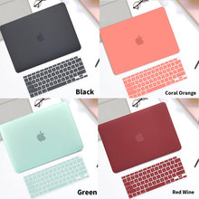 Frosted PVC Soft Laptop Case For MacBook Air M1 13 2020 A2179 A2337 Touch ID Pro 13 A2289 A2159 A2338 M1 Pro 16 Hard Laptop Case