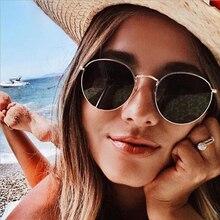 Vintage Oval Classic Metal Frame Eyeglasses Small Sun glasses For Women Street Sunglasses Brand Design
