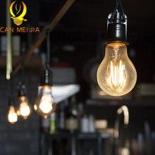 E27 bombilla de filamento Led 2W 4W 6W 8W Retro Edison lámpara 220V Vintage G45 A60 luz ampolla Led iluminación COB decoración del hogar cálido/blanco