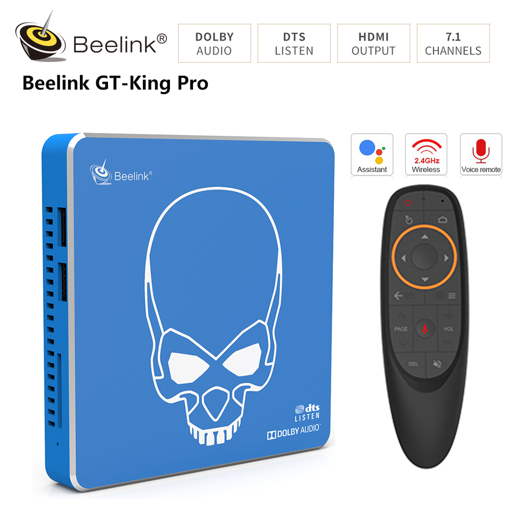 Beelink GT-King Pro Android 9.0 Amlogic S922X-H 4GB 64GB Hi-Fi Sound 4K TV Box With Dolby Audio Voice Remote Control Set Top Box(China)