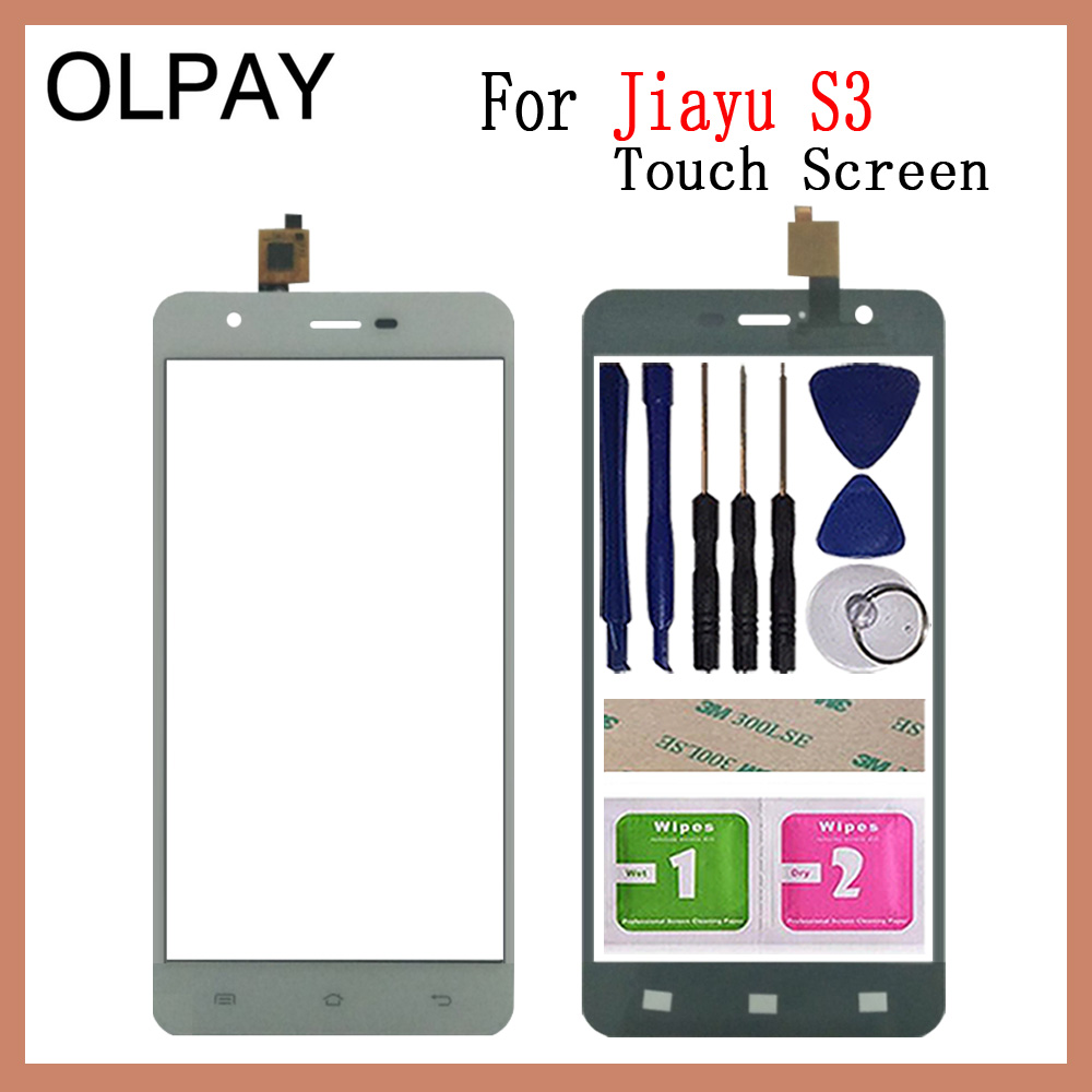 OLPAY 5.5'' Mobile Phone TouchScreen  For Jiayu S3 Touch Screen Digitizer Panel Repair Parts Touch Screen Front Glass Sensor