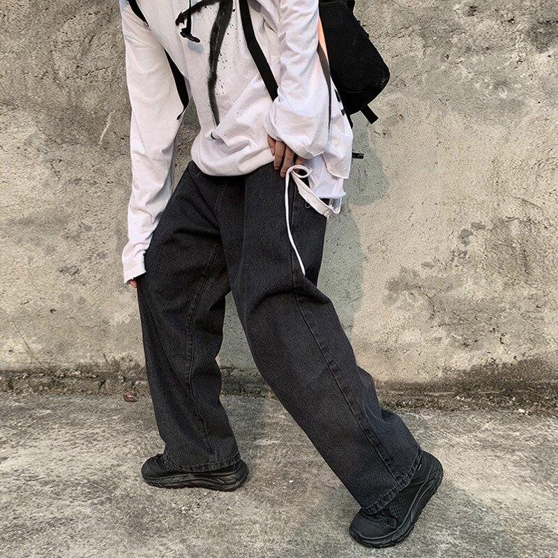 Japanese-style Street Retro Popular Brand Printed Jeans Men's Autumn And Winter Harajuku-Style Laziness Casual Wide-Leg Drape Ha
