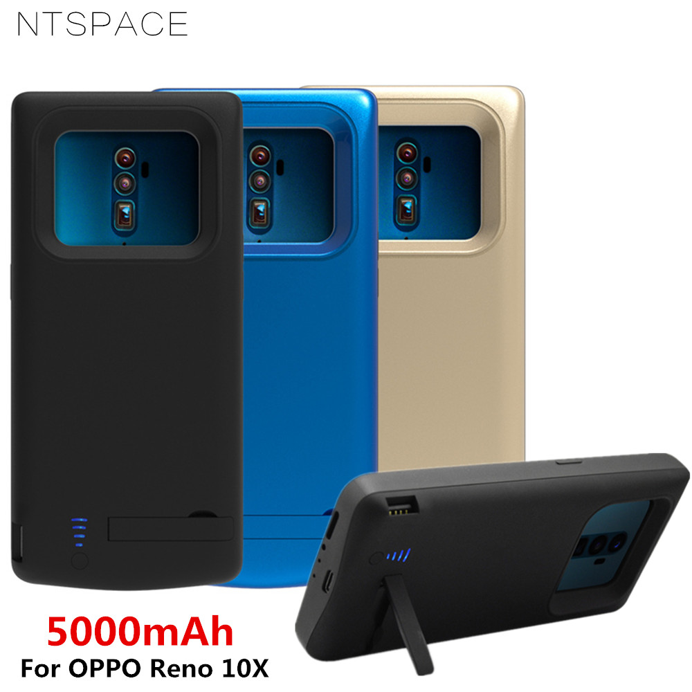 NTSPACE 5000mAh Backup Power Bank Cover For OPPO Reno 10X Case Extenal Battery Charging Cases Powerbank