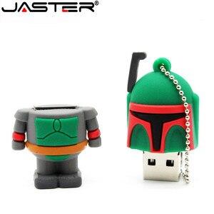 Image 5 - JASTER usb 플래시 드라이브 스타 워즈 펜 드라이브 4GB/8GB/16GB/32GB/64GB 스타 워즈 다크 다스 베이더 요다 pendrive 메모리 스틱 u 디스크