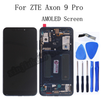 AMOLED 6.21 Original For ZTE Axon 9 Pro lcd display With Frame Touch screen Digitizer replacement For Axon 9 Pro Repair kit
