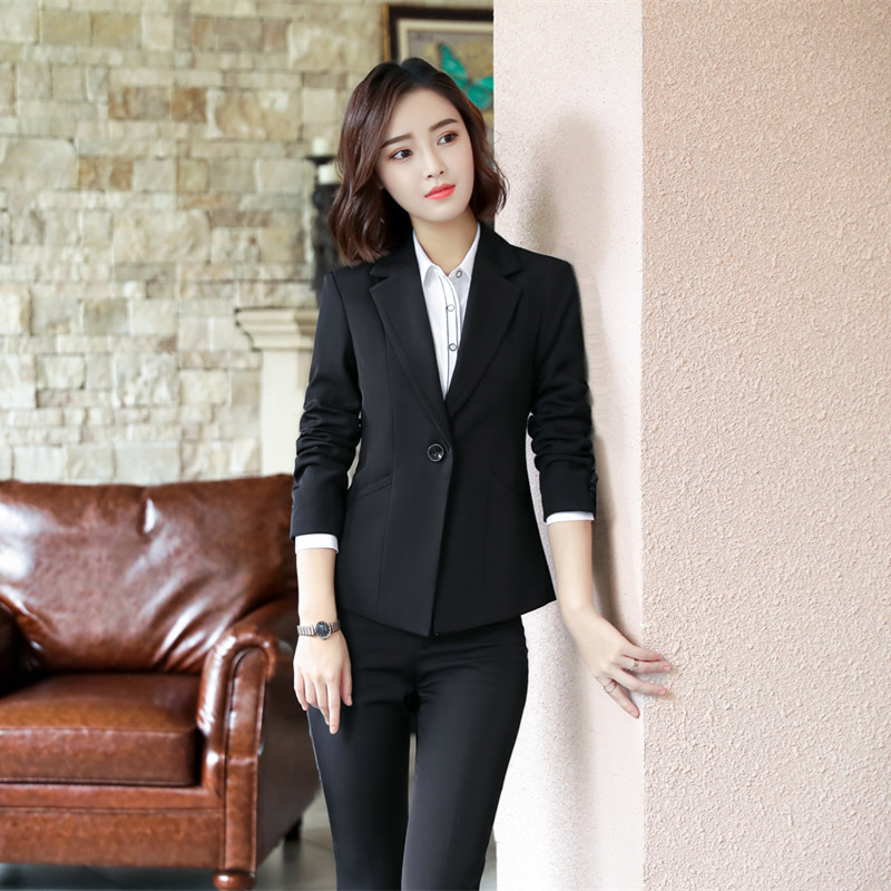Female Elegant Business Women's Tops And Blouses Pants Suits Office Ladies Blazer Trouser Woman Work Wear 2 Pieces Set Vest Suit