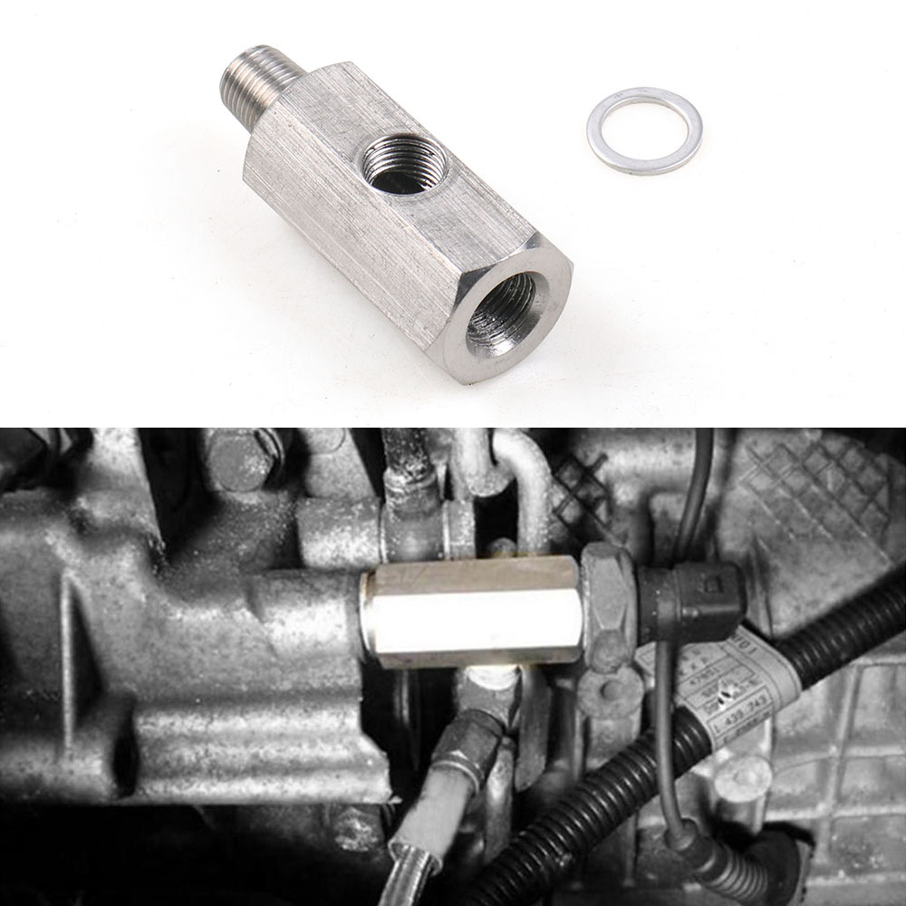1/8inch BSPT Oil Pressure Sensor Tee To NPT Fitting Turbo Supply Feed Line Gauge Turbo Oil Feed Adapter Fitting Brand New And Hi