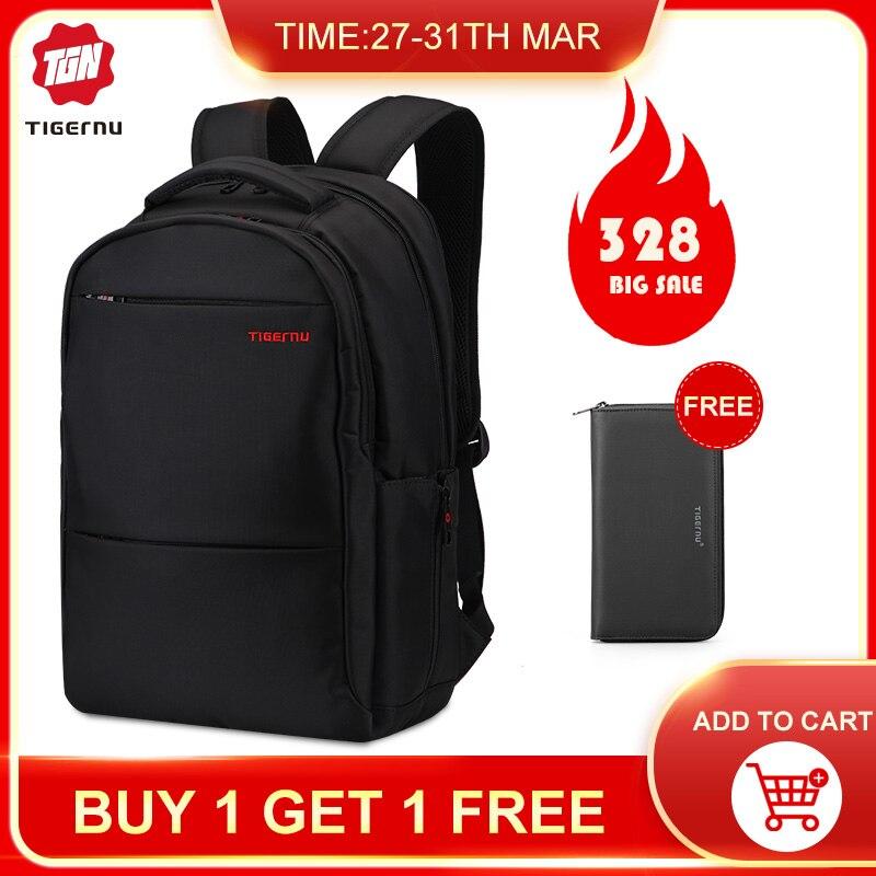 Tigernu Laptop 15-17inch Backpack For Computer Men's Backpack Notebook Bag For Male Waterproof Nylon Backpack Mochila Famale Bag