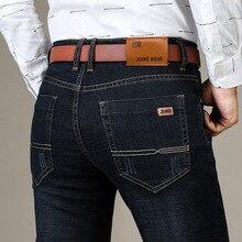 Di marca di Modo dei Nuovi Uomini Dei Jeans di Affari casual Stretch Jeans Slim Quattro Stagioni Uomini Classico Dritto Pantaloni Del Denim Dei Pantaloni Maschili