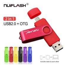 Флеш-накопитель для смартфонов OTG USB флеш-накопитель cle usb 2,0 флеш-накопитель 64G otg 4g 8g 16g 32g 128G устройства для хранения