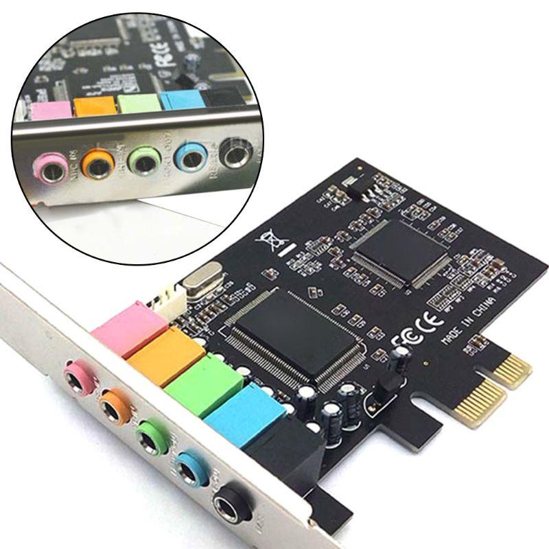 Звуковая карта PCI E, 5,1 канала, CMI8738 Express, звуковая карта для ПК, компьютера, Расширительная карта|Звуковые карты|   | АлиЭкспресс