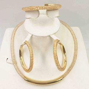 Модные женские комплекты ювелирных изделий из бисера золотистого цвета в Дубае, Свадебные вечерние серьги с блестящим цирконием