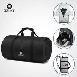 OZUKO многофункциональная большая емкость Для мужчин Дорожная сумка Водонепроницаемая спортивная сумка для поездки костюм хранения ручной
