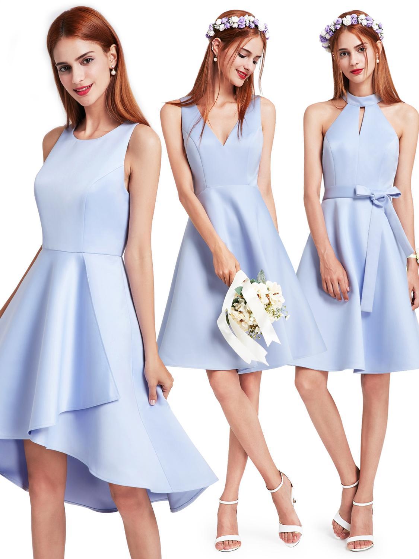 Elegant Sexy   Cocktail     Dress   2019 Scoop Sleeveless Asymmetrical Hem Ruffle   Dress   Simple Pretty Forever   Dress   for Party