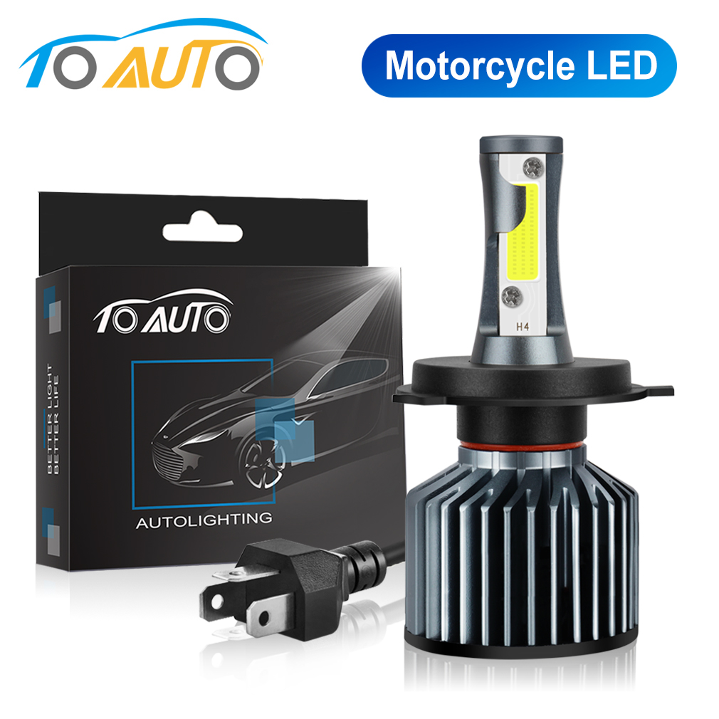 H4 Led Motorcycle Headlight Bulbs 35W Hi/lo Far Light White Driving Lights Motorbike H4 LED Moto Bike Headlamp Lamp 12V
