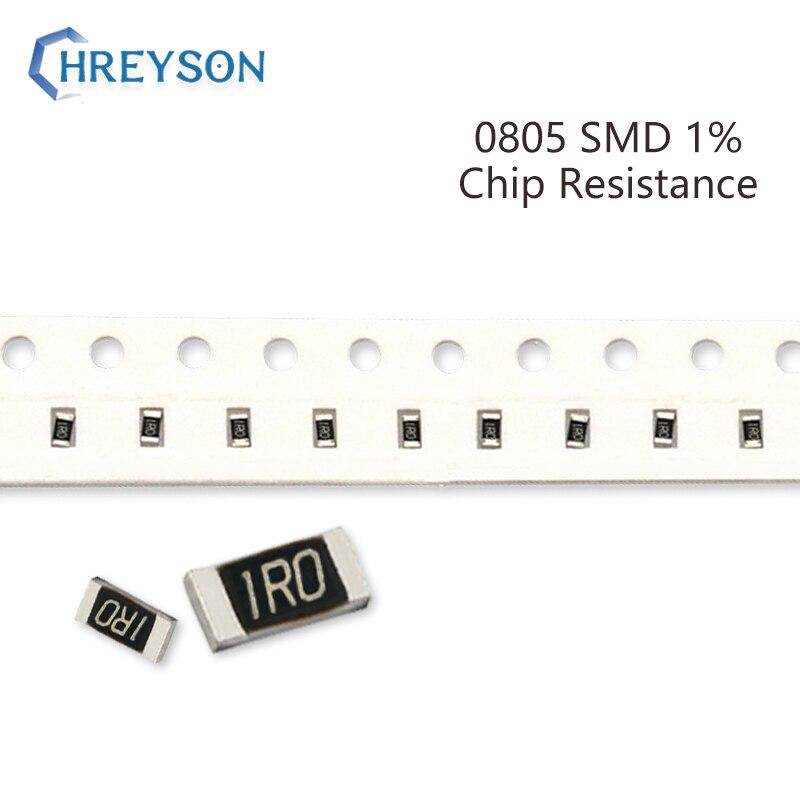 Набор резисторов 100 SMD 0805, 1% Допуск 402R-30K 442R 511R 887R 2,37 K 6,8 K 11,8 K 10 Ом, электронные компоненты, набор «сделай сам»