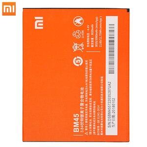 Image 2 - Xiao Mi oryginalna bateria do telefonu komórkowego BM45 do Xiaomi Redmi Note 2 Hongmi Note2 baterie zapasowe prawdziwa pojemność 3020mAh