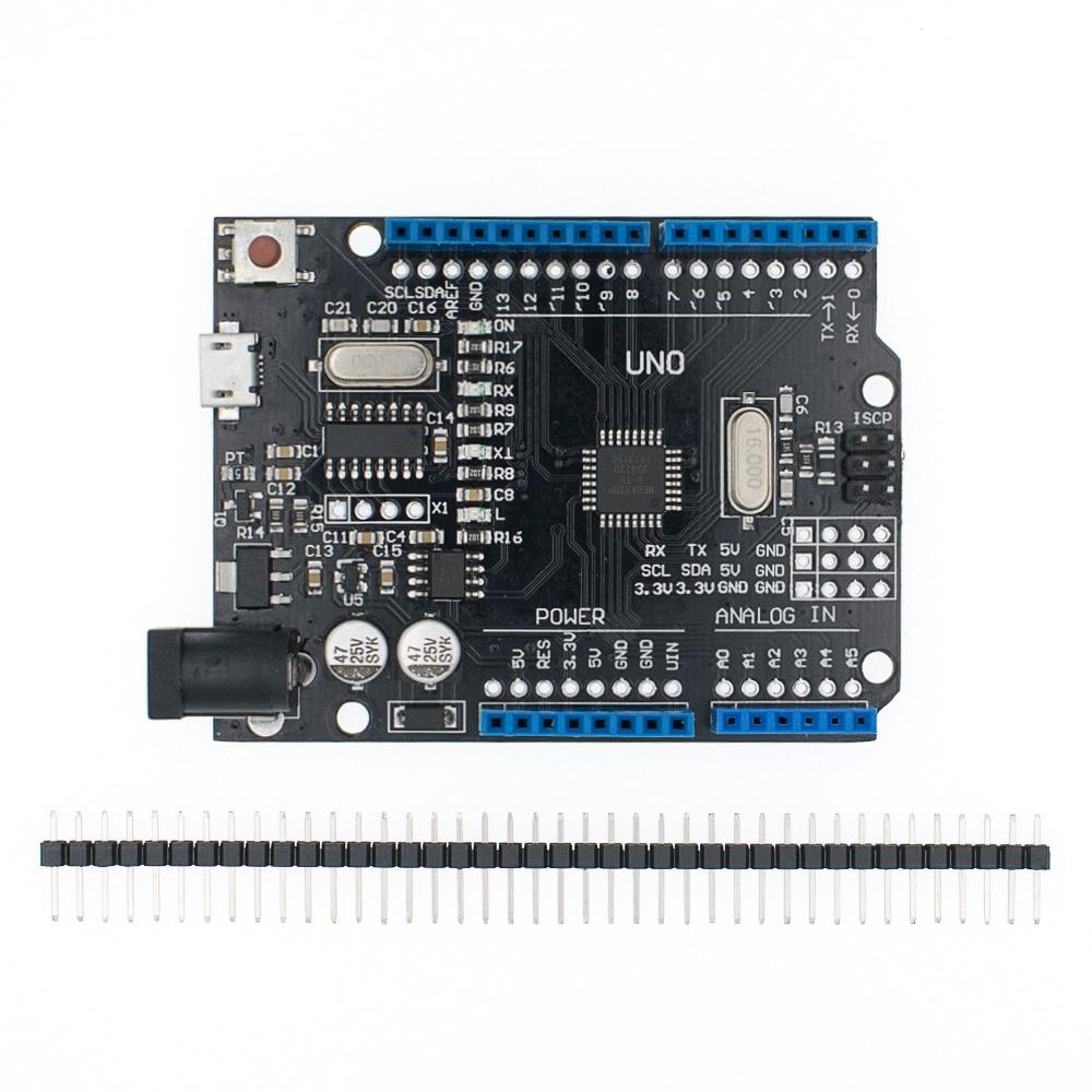 10 шт. синий/красный/черный 2,4 TFT Модуль UNO R3 макетная плата с CH340 ATMEGA328 USB кабель для Arduino