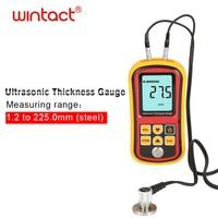 Digital Ultrasonic Thickness Gauge 1.2 220mm Steel Width Testing Monitor Tester Meter Sound Velocity Meter Measuring Instrument