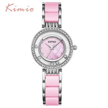цена на KIMIO Pearl Scale Crystal Diamond Rolling Bracelet Women's Watches Brand Luxury Fashion Ladies Watch Women Quartz-watch Clock