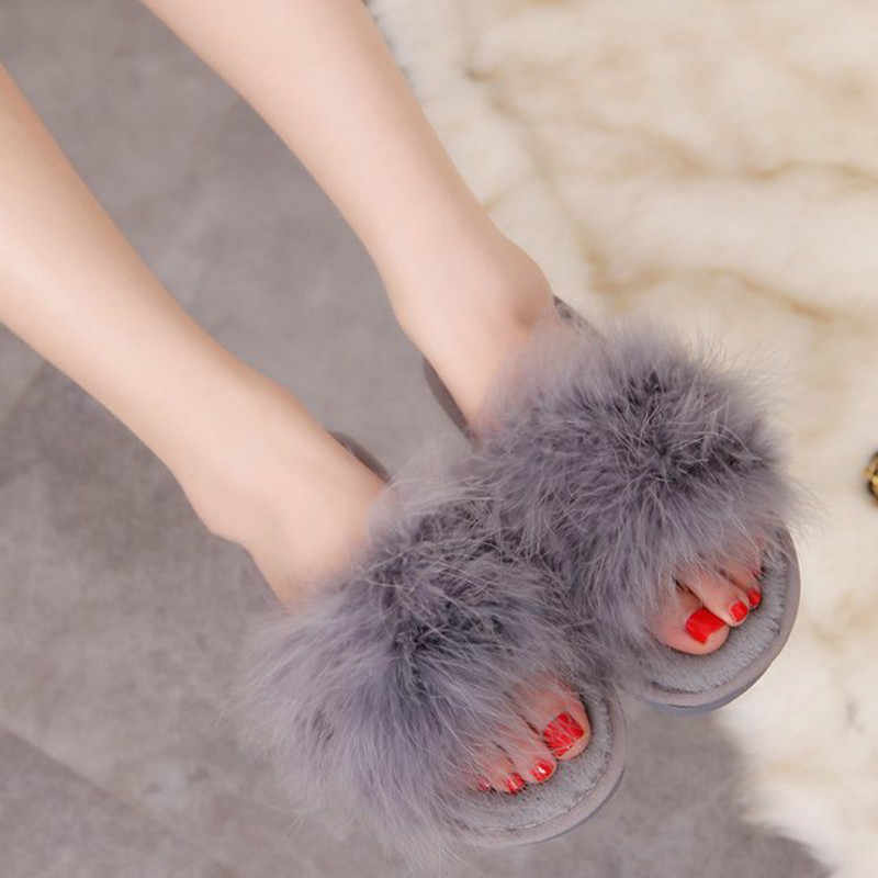 Dropshipping 2019 New Colors Spring Summer Autumn Winter Home Cotton Plush Slippers Women Indoor Floor Flats Shoes