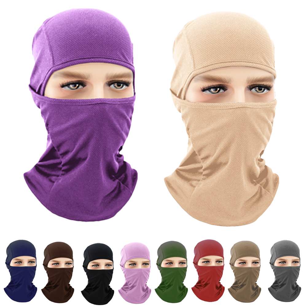 Unisex Women Men Outdoor Sports Balaclava Full Neck Face Cover Head Scarf Turban Hat Windproof Cycling Motorcycle Ski Protection