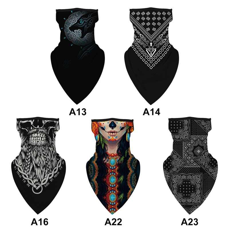 Digital Printing Outdoor Riding Magic Head Scraf Seamless  Sun-proof Head Scarf  Quick Dry Dust-proof Running Triangle Scarves 1
