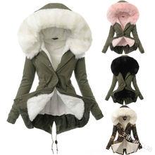 ZOGAA Fashion Women's Long Parka Winter Warm Thicken Faux Fur Hooded Coat Casual